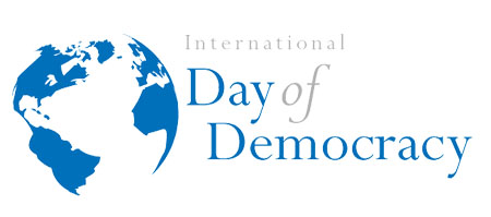 International Day of Democracy logo