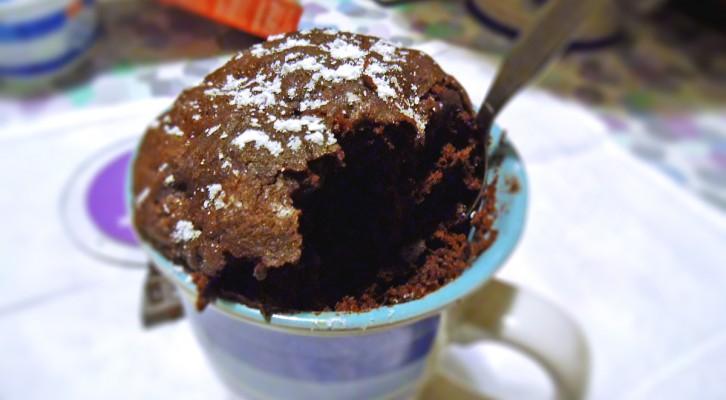 Mug Cake dal cuore morbido