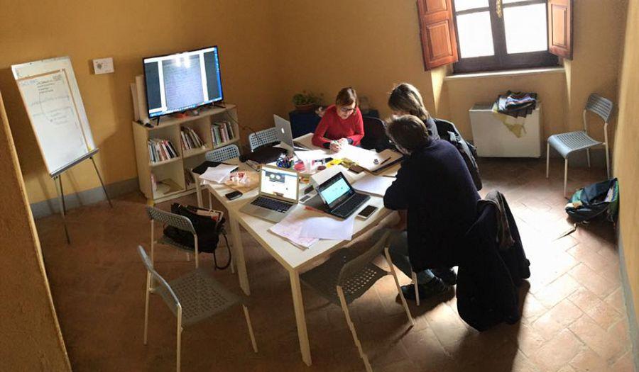 Gli spazi di coworking di Wisionaria a Montepulciano