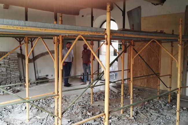 Lavori in corso per gli spazi di coworking a Chiusi