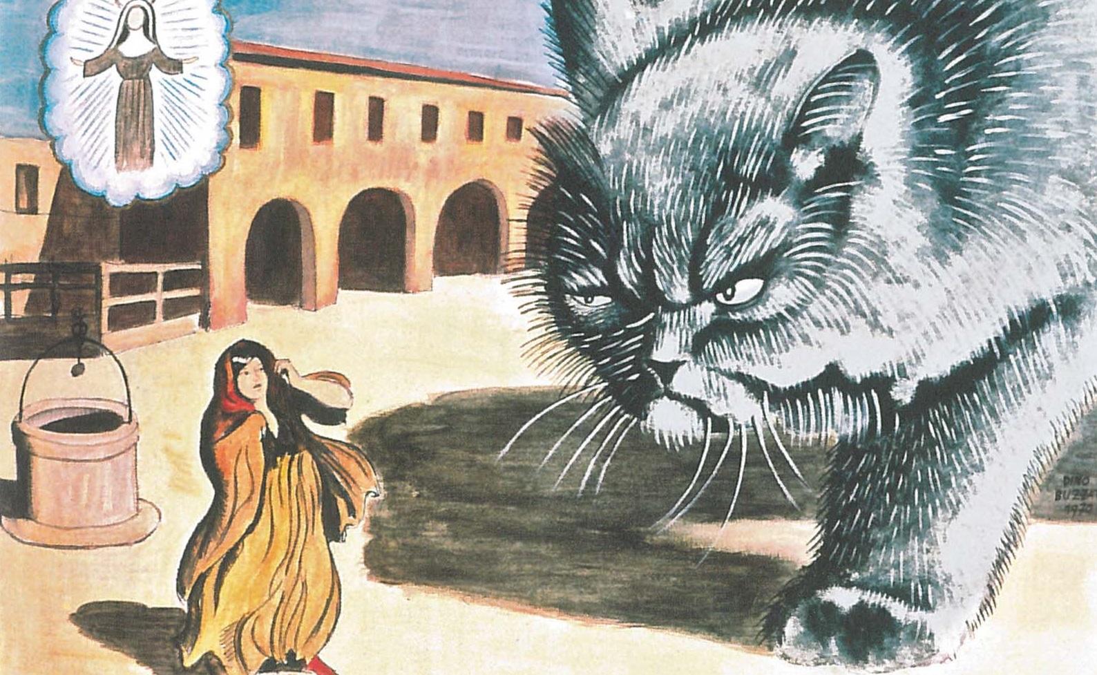 Una rappresentazione della leggenda del Gatto mammone di Valdichiara