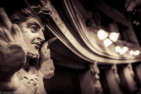 Un dettaglio del Teatro degli Arrischianti